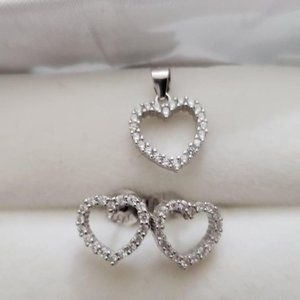 Silver Earring And Pendant CZ Set